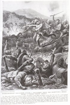 Second Lieutenant Dallas-Moor Rallies A Detachment Which Had Momentarily Broken Before A Furious Turkish Assault.