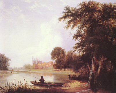 Fishing on the River Thames near Eton College by Thomas Creswick