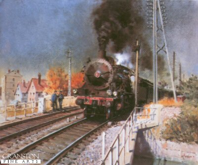 A Local Train Pulls Out by Terence Cuneo