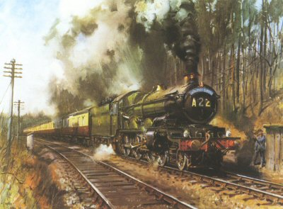 Cathedral Express by Terence Cuneo