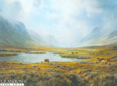 Wright Barker Highland Cattle Painting anysize 50% off