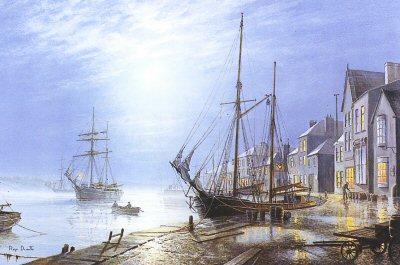 Appledore by Moonlight by Roger Desoutter.