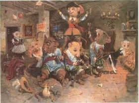 D'Artagnan and the Three Mousketeers by Terence Cuneo.