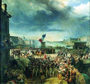 Departure of the Paris National Guard, September 1792 by Leon Cogniet. (GS)