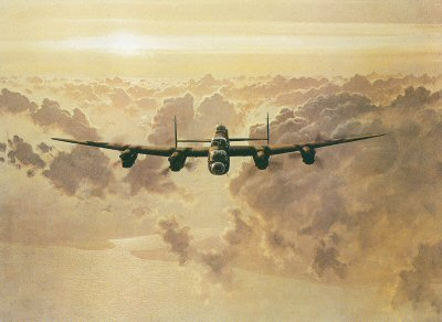Outbound Lancaster by Gerald Coulson.
