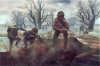 Battle Camp, Infantry Training, Catterick by David Rowlands. (GS)