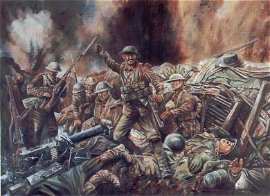 Lance Sergeant Fred McNess VC, Scots Guards in Action Near Gincy, France 15th September 1916 By David Rowlands. (GL)