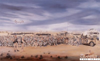 1st Battalion The Royal Highland Fusiliers, Southern Iraq, 27th February 1991 by David Rowlands (GL)