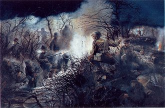 Lord De L Isle VC Grenadier Guards, 1944 at Anzio by David Rowlands. (GS)