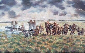 Vickers Machine-Gunners Training by David Rowlands. (GS)