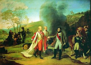 Napoleon and Kaiser Franz after the Battle of Austerlitz by Antoine-Jean Gros. (GS)