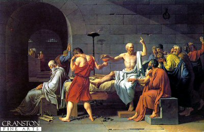 Death of Socrates by Jacques Louis David. (Y)