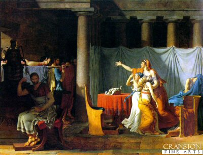 The Lictors Bring to Brutus the Bodies of his Sons by Jacques Louis David. (GS)