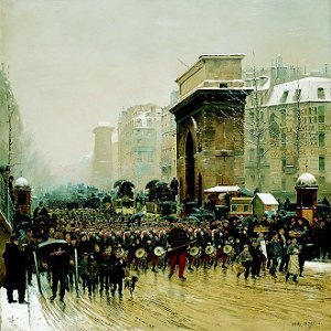 The Passing Regiment, 1875 by Jean Baptiste Edouard Detaille (GL)