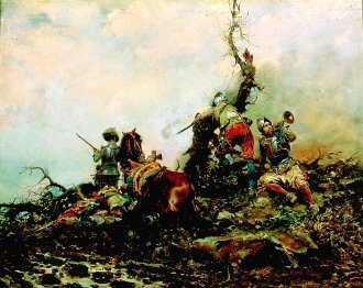 Sounding of the Horn by Cesare Auguste Detti. (GL)