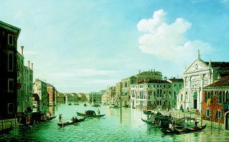 View of the Grand Canal, Venice, Looking East by William James. (GL)