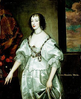 Queen Henrietta Marie after Sir Anthony van Dyck.  (GL)