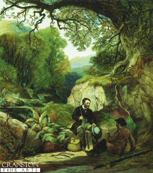 A rest from Fishing  by Alexander F Rolfe (1814 to 1875) (GS)