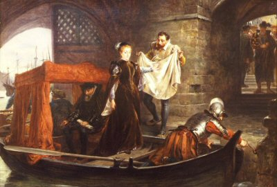 Mary Queen of Scots arriving at the Tower of London by Robert Hillingford. (GS)