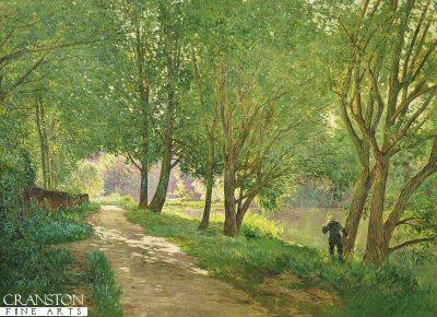 Fishing by Gabriel Mathieu (1843-1921) (GL)