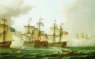The Battle of Cape St Vincent, 1797 by Thomas Buttersworth. (GS)