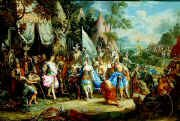 The Amazon Queen Thalestris in the Camp of Alexander by Johann George Platzer. (GL)
