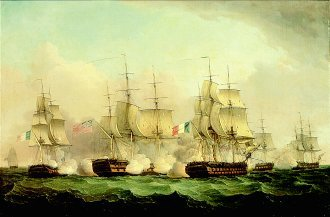 A Naval Battle by Thomas Whitcombe (GL)