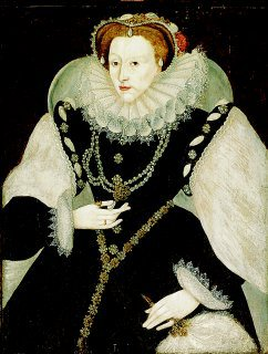 Elizabeth I, Queen of England portrait in the style of George Gower. (GL)