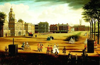 The Horse Guards with the Admiralty and Downing Street by Samuel Wale. (GL)