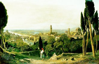 Florence from St Miniato by William James Muller. (GL)