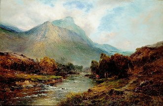 The River Tay by Alfred de Breanski. (GL)