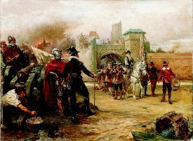 The Surrender of the Town of Alkmaar by the Dutch by Robert Hillingford. (GS)