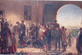 The Mission of Mercy. Florence Nightingale Receiving the Wounded at Scutari by Barrett. (GS)