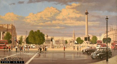 Trafalgar Square - Evening by Graeme Lothian. (GS)