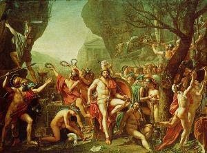Leonidas at Thermopylae by Jacques Louis David 1748-1825. (GS)
