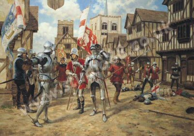 The Battle of St Albans - 22nd May 1455 by Graham Turner.