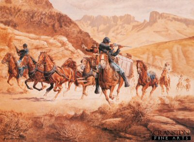Attack on the Eagle Springs Run by Clyde Heron.