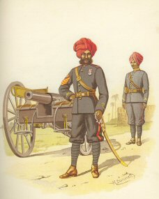 The Bombay Artillery by H Bunnett (P)
