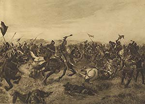 Battle of Agincourt, 1415 by Henry Dupray.