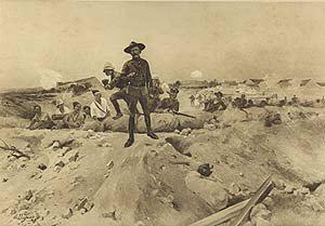 Siege of Mafeking, 1900 by Henry Dupray