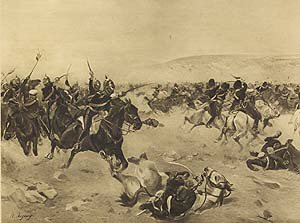 Charge of the Heavy Brigade (Balaclava), 1854 by Henry Dupray (P)