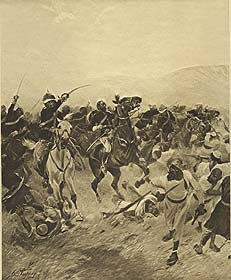 Battle of Futtenhabad, 1879 by Henry Dupray. (P)