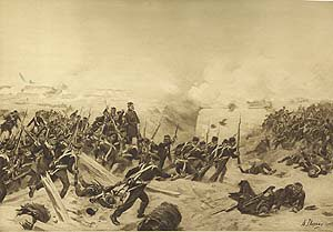 Siege of Sebastopol, 1854 by Henry Dupray. (P)