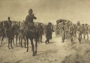 Surrender of Paardeburg, 1900 by Henry Dupray. (P)