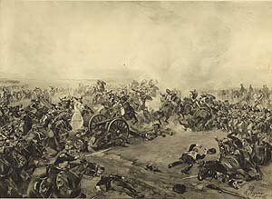 Battle of Waterloo 1815 by Henry Dupray. (P)