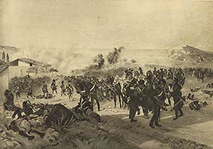 Battle of Corunna, 1809 by Henry Dupray. (P)
