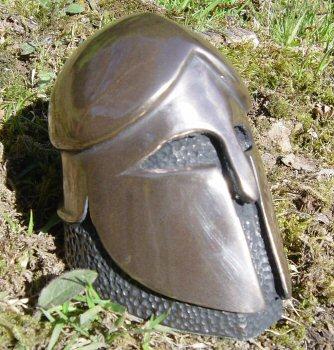 Paperweight: Greek Corinthian Helmet (Bronze)