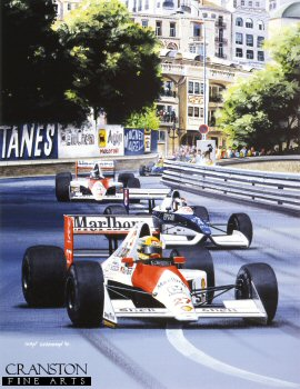 Senna at Monaco by Ivan Berryman. (GS)