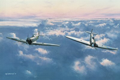 Peaceful Interlude (Spitfires) by Ivan Berryman.