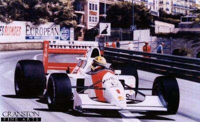 Monaco Master - Ayrton Senna by Ivan Berryman.